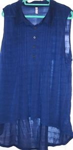 Blue Sleeveless Blouse Size 4